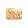 Resin Sew-on Dichroic Style 10 15x21mm Rectangle Apricot